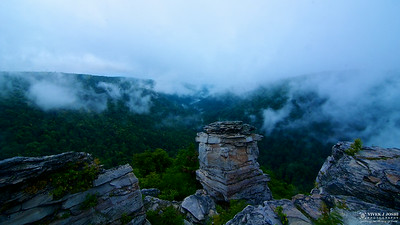 Valley All Covered with Clouds... Gorgeous Morning View at Lindy Point, Blackwater Falls State Park,WV