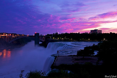 Beautiful Pink & Purple Sunrise Sky Over Niagara Falls, NY