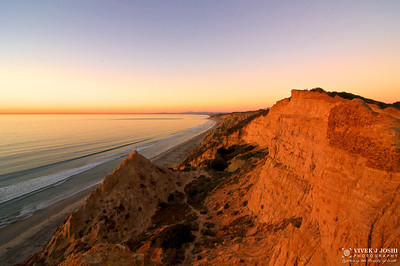 View From Glider Point, Torrey Pines State Reserve, San Diego CA